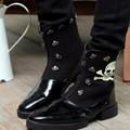 giày boot da nam đầu lâu - Mã: GH0225