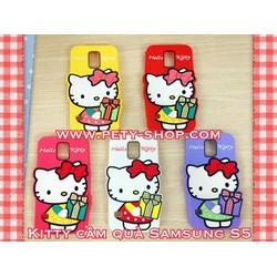 Ốp Kitty cầm quà iPhone 5 5S