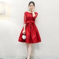 Đầm Xòe Phối Ren