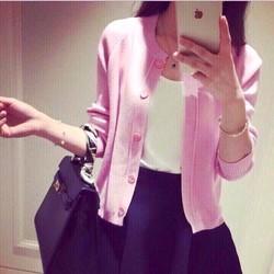 Áo len cardigan dệt kim hàng nhập Quảng Châu