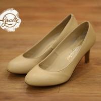 Giày cao gót da mờ LABORATORY WORK - xuất Nhật chuẩn