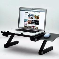 Bàn để laptop nhôm xoay 360 độ