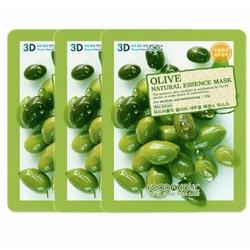 Bộ 3 mặt nạ chiết xuất ô-liu Foodaholic Olive Natural Essence Mask