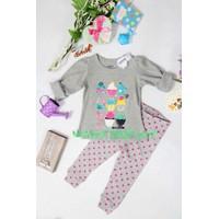 Bộ quần áo cho bé gái họa tiết bánh - YY12
