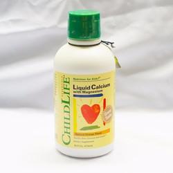 Liquid Calcium With Magnesium Childlife - cho bé bổ sung canxi và kẽm,