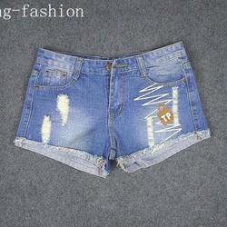 quần jean ngắn lai tua tb0116