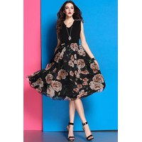 Đầm voan hoa Hàn quốc cao cấp - hàng nhập