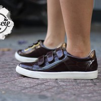 Giày bata MIO NOTIS - Burgundy - xuất Nhật - Gracie Shop