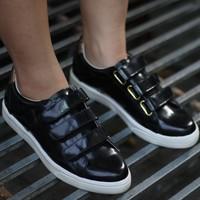 Giày bata MIO NOTIS - đen bóng - xuất Nhật - Gracie Shop
