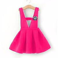 Bộ áo yếm xinh hồng XN149