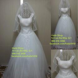 Áo cưới cổ chữ U