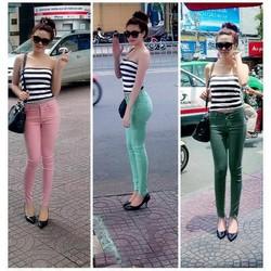 Quần jean skinny color block 3 màu - Q101