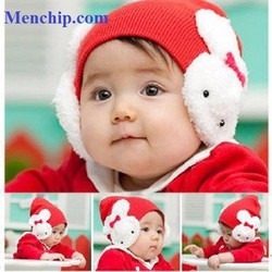 Nón len Con Thỏ cho bé trên 6 tháng tuổi