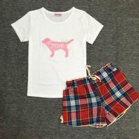 Bộ đồ ngủ thun Pink - S12B30