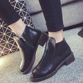 Giày Boot Nữ Có Phối Khóa Kéo Bên Hông Giày Mẫu Mới 2015 - MSP 2403