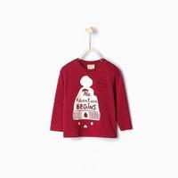 Áo phông Adventure Begins bé trai hãng Zara - hàng nhập Tây Ban Nha