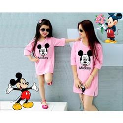Combo áo thun mẹ và bé Mickey TH08444
