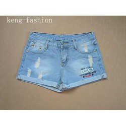hình thật- quần jean wash rách tb0117
