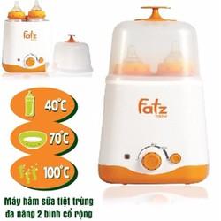 Máy hâm sữa tiệt trùng đa năng 2 bình Fatzbaby