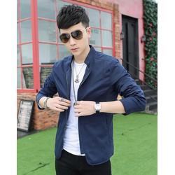 Áo Khoác dù nam giả vest - KB060 màu xanh đen