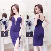 Đầm ôm body xẻ đùi xinh xắn 1036