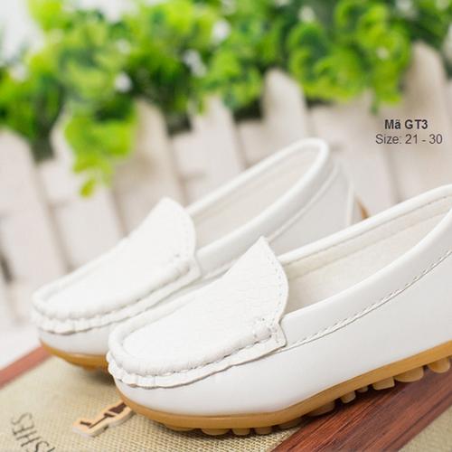 Giày mọi cho bé trai 1-6 tuổi GT3 màu trắng cá tính