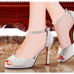 Giày cao gót cao cấp đính đá Hàng nhập đẹp như hình