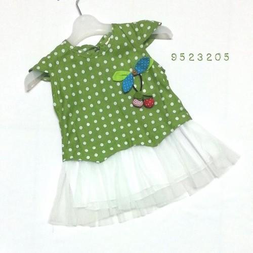 Đầm vải chân ren, lưới mịn - 9523205