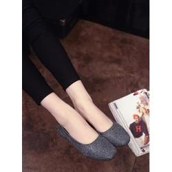 Koin - Giày búp bê mũi vuông kim tuyến BB25 - bảo hành 1 năm