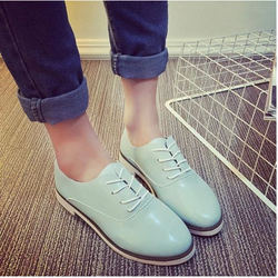 Giày oxford đế trắng