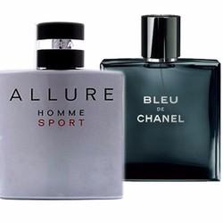 Set 2 chai nước hoa nam BLEU CHANEL và ALLURE CHANEL