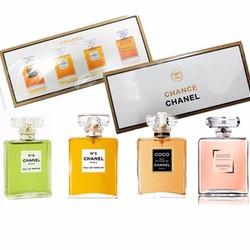 Bộ nước hoa chance 4 chai bốn hương thơm nhẹ nhàng, tinh tế.