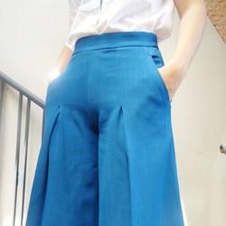 Quần culottes, quần váy ống rộng thời trang