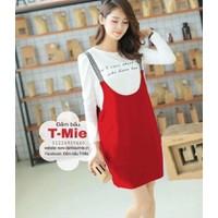 Set yếm bầu và áo thun Korea xinh xắn