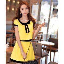 Sét áo croptop nơ váy xòe - SET1356