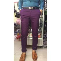 Quần kaki nam màu tím phong cách trẻ trung ,năng động