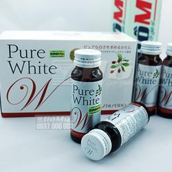 Nước uống làm trắng da Pure White của Shiseido Nhật Bản