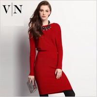 Đầm len Thu Đông thời trang cao cấp VNAWA80010