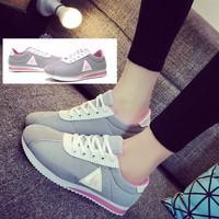 Giày thể nữ đế cách điệu sọc hồng năng động TT208G | Doni86.com