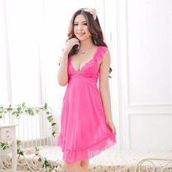 Váy ngủ dịu dàng màu hồng sen, hồng cà rốt TK249