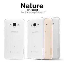 Ốp lưng silicon trong suốt Samsung Galaxy J7 hiệu Nillkin