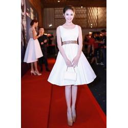 Đầm xòe trắng dễ thương Linh Chi D308