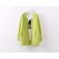 Áo len dệt kim cardigan Hàn Quốc mềm mịn ấm áp
