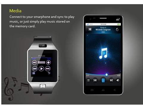 Đồng hồ điện thoại DZ09 và tai nghe bluetooth S1000 3