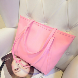 Túi xách nữ đẹp bản to đeo vai màu hồng