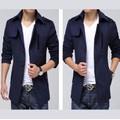 Áo khoác nam măng tô xanh