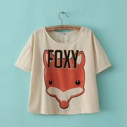 SHOP CÚN-Áo CropTop FOXY Cá Tính-F4453