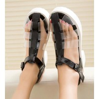 Giày cao gót gladiator trong suốt CG06