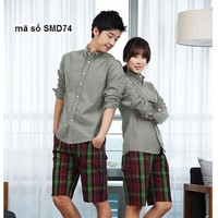 Sơ mi cặp đôi tình nhân sắc màu yêu thương pSMD74