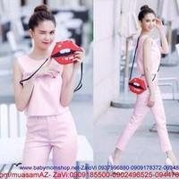 Set bộ áo quần màu hồng xinh đẹp cùng nàng dạo phố SQ46